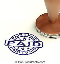 Paid Stamp Shows Bill Payment Confirmation - Paid Stamp...