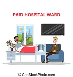 Paid ward in hospital.