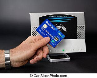 paiement, mobile, /, communication, -, champ, nfc