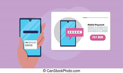 paiement, technologie, mobile, smartphone