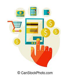 paiements, traitement, mobile