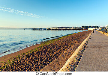 Paignton beach Devon England UK
