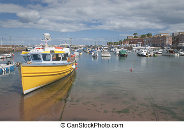 Paignton harbour Devon UK