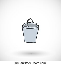 Pail or bucket vector icon