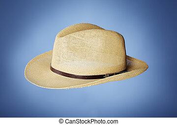paille, bon marché, chapeau