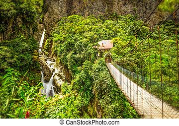 Pailon Del Diablo Waterfall Long Exposure