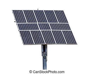 painéis, isolado, solar