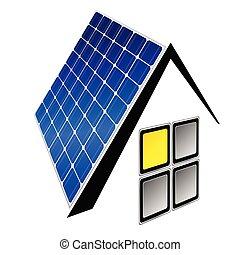 painéis, vetorial, solar, ilustração