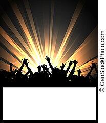 painél publicitário, evento, dançar