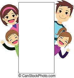 painél publicitário, família jovem