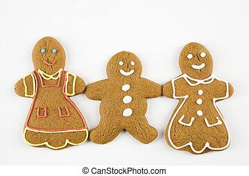 pain épice, heureux, cookies.