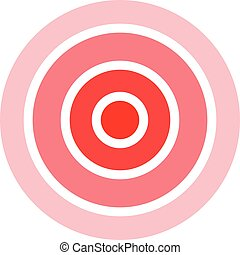 Pain Circle Icon. Target, Focus or Sick Spot Illustration As A Simple Vector Sign Trendy Symbol for Design and Websites, Presentation or Mobile Application