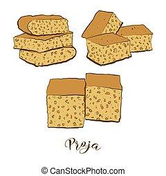 pain, coloré, proja, dessin