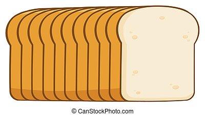 pain, dessin animé, pain