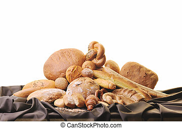 pain frais, groupe nourriture