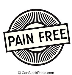 pain free rubber stamp black. Sign, label sticker