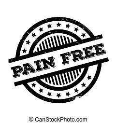 Pain Free rubber stamp. Grunge design with dust scratches....