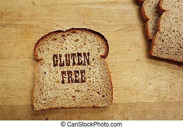 pain, gluten, gratuite