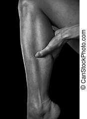 Pain in female calf muscle