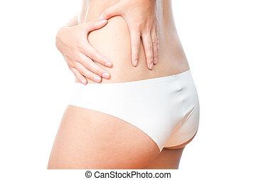 Pain in left side of body.