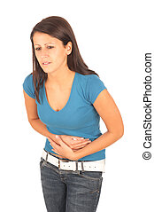 Pain in stomach - girl in pain