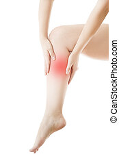 Pain in the female leg