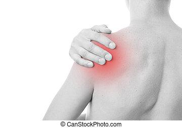 Pain in the men's shoulder
