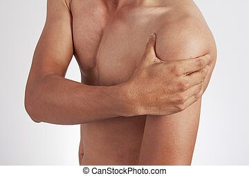 Pain in the shoulder.