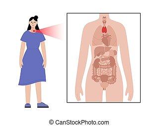 Pain in woman body