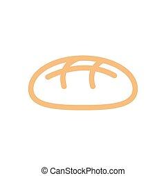 pain, ligne, style., boulangerie, icon., bakeshop, signe,...