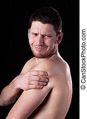 Pain of rotator cuff