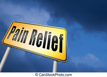 pain relief by painkiller