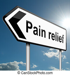 Pain relief concept. - Illustration depicting a road traffic...