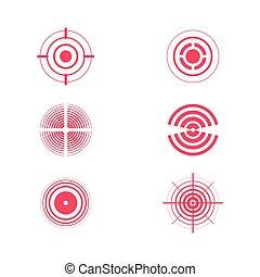 Pain rings vector illustration design template