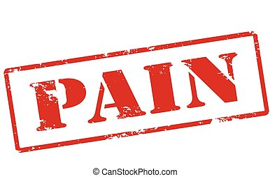 Rubber stamp with word pain inside, vector illustration
