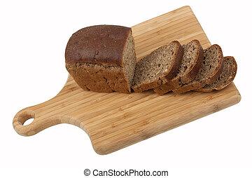pain, sur, cuisine, planche