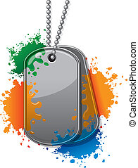 Painball army tags - Army tags with chain and paintball ...