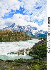 paine, torres, nationalpark, del, chile, patagonia