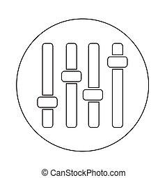 painel controle, ícone