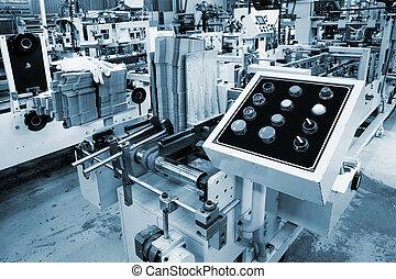 painel controle, de, a, equipamento