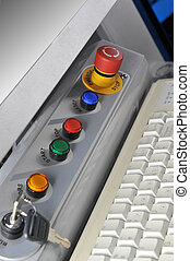 painel controle, modernos, máquina