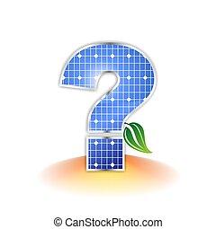 painel solar, marca pergunta