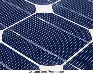 painel, unidade, solar, um