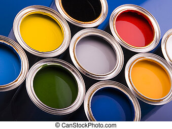 Paint and cans - Let your world be colourful!