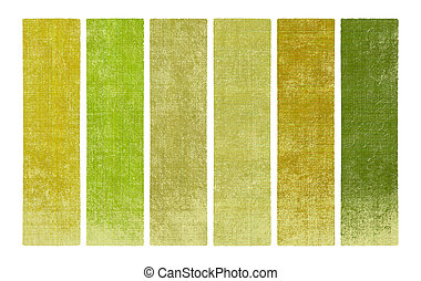 Paint and wood textured banner set