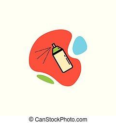 paint., boîte, icône