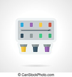 Paint box flat color vector icon.