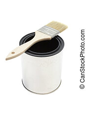Paint brush and bucket - New paint brush and bucket