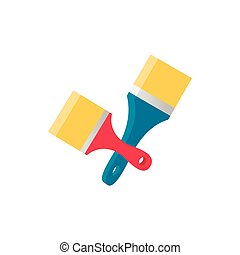 Paint brush icon, isometric 3d style