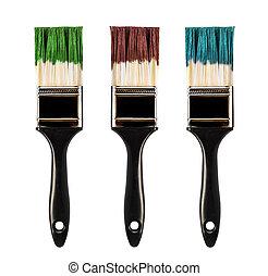 Paint brush, isolated on white